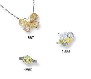 A MULTI-COLOURED DIAMOND AND D