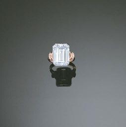 A LIGHT BLUE DIAMOND AND DIAMO