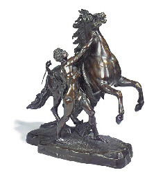 A French bronze 'Marley' horse