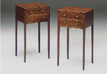 A PAIR OF EDWARDIAN MAHOGANY A