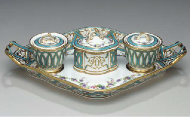 AN ENGLISH SEVRES STYLE THREE