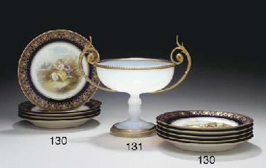 AN ORMOLU-MOUNTED OPALINE GLAS