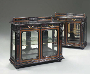 A pair of Neoclassic style ebo