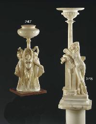 An Italian alabaster figural l