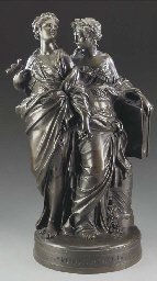 A French bronze allegorical gr