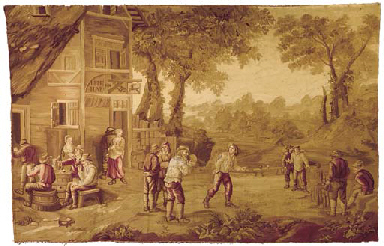 A Flemish pictoral tapestry