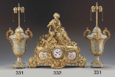 A French gilt-metal and Sevres