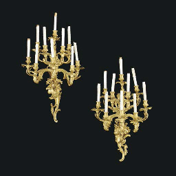 A pair of large Louis XV style
