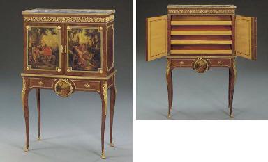 A Louis XV/XVI style ormolu-mo