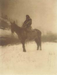 The Scout in Winter - Apsaroke