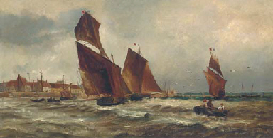Fishing vessels of a harbour