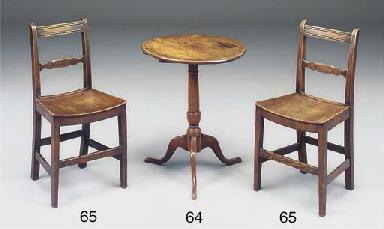 AN ENGLISH ELM TRIPOD TABLE