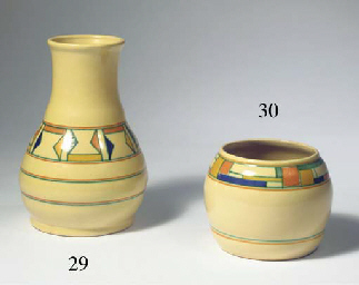 A glazed pottery vase