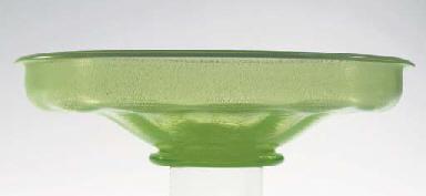 Serica 3, a green glass bowl