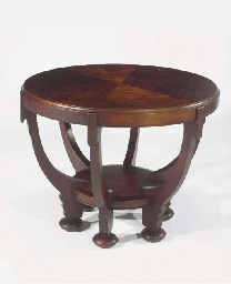 A mahogany centretable