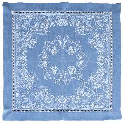 A set of six cotton-wool-damas