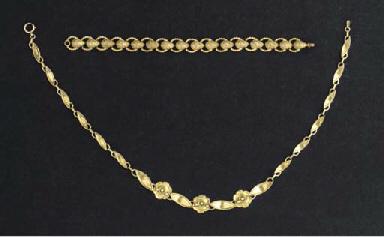 (2)  A gilt silver necklace