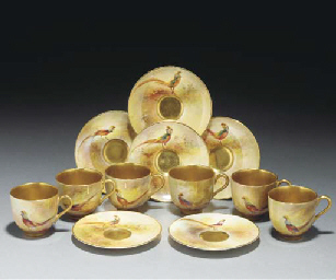 A Royal Worcester boxed demi-t