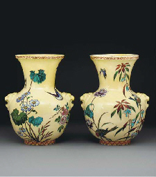 A pair of Theodore Deck potter