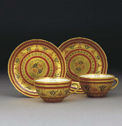 A PAIR OF RUSSIAN TEACUPS AND