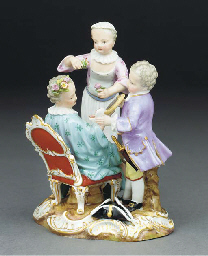 A Meissen group