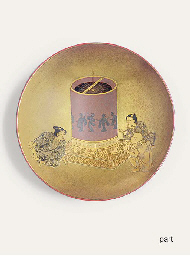 A SAKE CUP AND A SET FOR MOON
