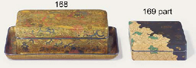 A LACQUER BOX AND TRAY
