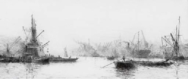 The Clyde at Govan (illustrate