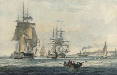 View off Gravesend, by E. Dunc