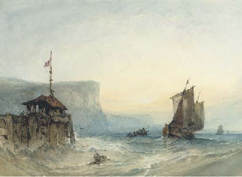 Dawn:  Shipping off Dover