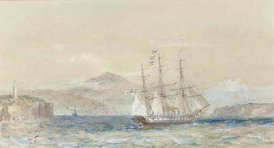H.M.S. Galatea off the coast o