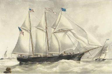 The three-masted American scho