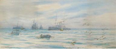 A cruiser squadron offshore wi