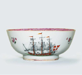 A FAMILLE ROSE MARITIME BOWL F
