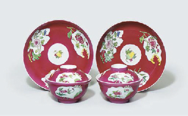 A MATCHED PAIR OF FAMILLE ROSE