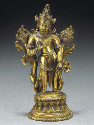 A Nepalese embellished bronze