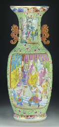 A large Cantonese vase, late 1