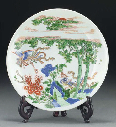 A Chinese famille verte plate,