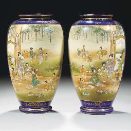 A pair of Japanese Satsuma ovo