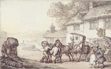 Journeying from a coastal inn
