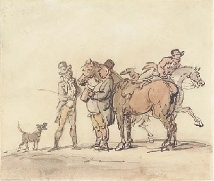 The horse dealer (recto); and