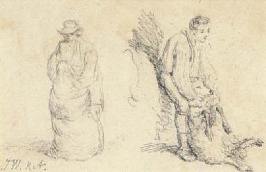 Two studies of sheep shearing