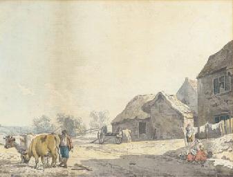 A farm on the outskirts of a v