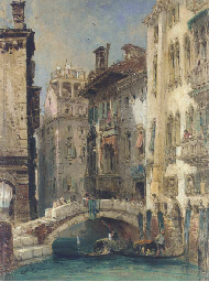 View of a canal, Venice