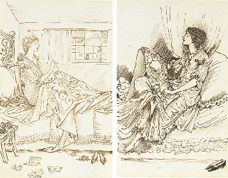 Two caricatures of May Gaskell
