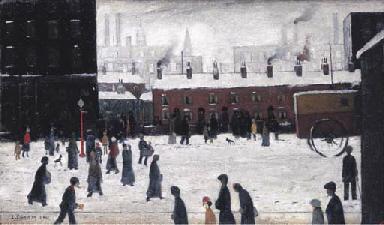 Street scene in the snow