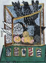 Oiseaux dans une cage