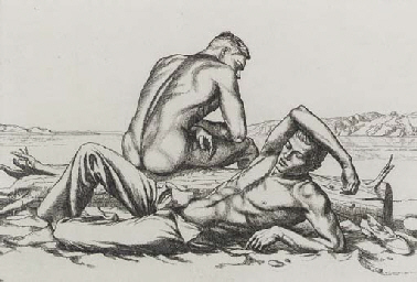 Two Boys on a Beach, No. 2 (Br