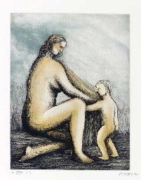 Mother and Child, London, Raym