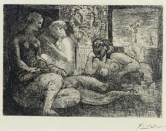 Quatre Femmes nues et Tête scu